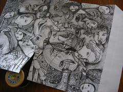 Parce-qu'ils sont 2 amis! (nathalielaboisdebesson*) Tags: enveloppe dessin decoupage drawing artpostal artiste amis ericmeyer ivansigg