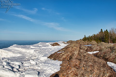 Along the Shore... (Winglet Photography) Tags: wingletphotography georgewidener stockphoto earth canon 7d georgerwidener lakesuperior up upperpeninsula michigan copperharbor keweenaw greatlakes winter ice icewatermansion scenery scenic