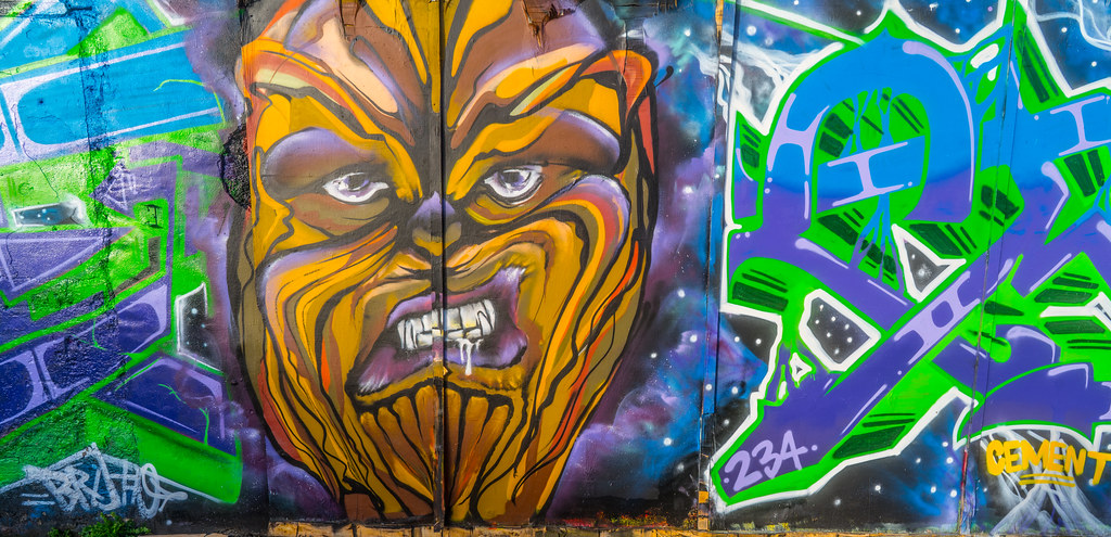STREET ART AT THE TIVOLI CAR PARK IN DUBLIN [LAST CHANCE BEFORE THE SITE IS REDEVELOPED]-135602