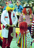 A Trio of Clowns (Tim7778) Tags: circus clowns colorful indoors stadium balloons