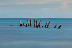 Posts (mclcbooks) Tags: posts pier sea ocean longexposure le landscape belize ambergriscaye sanpedro ramonsvillage blue