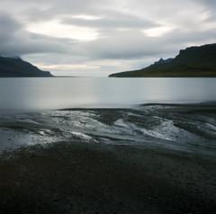 beach pinhole (lawatt) Tags: creek beach water fjord reykjarfjördur clouds silver árneshreppur westfjords iceland film 120 portra 400 hasselblad pinhole rollfilmweek