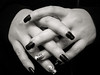nail art (enzo 74) Tags: bw mani nail art