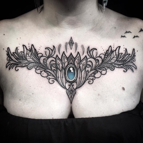 Ayrton sickbird tattoo chest jewel 2