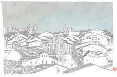 Brasil, Bahia, Salvador, Pelourinho (pirlouit72) Tags: bresil brasil brazil salvador bahia salvadordebahia sketch drawing dessin croquis urbansketch urbansketcher urbansketchers carnetdevoyage unesco