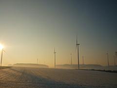 Winter-Morgensonne (Jörg Paul Kaspari) Tags: eifel südeifel helenenberg windpark windkraft winter energielandschaft morgensonne wintermorgensonne windkraftanlage windenergie windenergieanlage erneuerbareenergien stromproduzent windkraftwerk energiewende landschaft landscape