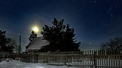 Starry sky in the frosty night of the moon eclipse (BogKY) Tags: 2018 омск omsk westernsiberia январь january зима winter bogky sonyalpha7ilce7ff sel1635z rawconvertsoft resizesoft пейзаж landscape ночь night мороз freeze fullmoon полнолуние moon луна supermoon суперлуние лунноезатмение mooneclipse