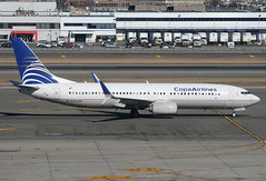 COPA AIRLINES, BOEING 737 (737-800), HP-1838CMP, at JFK, New York, USA. February, 2018 (Tom Turner - NYC) Tags: scimitarwinglets scimitar winglets taxi taxiway taxiing jet jetplane aircraft airliner aviation twin boeing boeing737 737 737800 copa copaairlines passengers pax tomturner jfk kennedy johnfkennedy international airport newyork queens nyc bigapple usa unitedstates spot spotting transport transportation