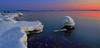 DSC_5866  Not dark yet. (NordVei) Tags: not dark yet helsinki vuosaari uutela särkkäniemi sunset sea snow seascape water people sky nikkor nikon outdoor nature reserves