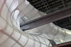 Una nuvola inquinata... (Il cantore) Tags: architettura architecture roma rome nuvoladifuxas luce light ombre shadows curve curves bianco white passerella footbridge up su
