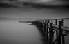 Culross (jasonconnelly) Tags: sea sky river forth water long exposure jetty pier scotland culross clouds black white monochrome
