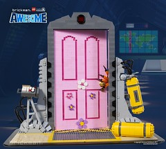 LEGO® brick Scare Door from Monsters Inc (TheBrickMan) Tags: lego brickmansydney brickman awesome scare door monsters inc