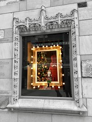 """Before I can tell my life what I want to do with it, I must listen to my life telling me who I am."" ―Parker J. Palmer 💡🎄💡 (anokarina) Tags: tribunetower frenchgothic architecture window display holiday winter decoration lights nutcracker christmas tree realtorbuilding appleiphone8 colorsplash shantytown chicago illinois il design chicagoist"