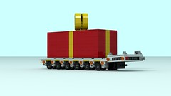 Self-Propelled Modular Transporters (The Driving Dutchman) Tags: lego selfpropelled modular transporters ldd ldd2povray povray truck