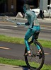 Neptune's Unicycle (Scott 97006) Tags: man ride unicycle costume neptune fork spear riding balance merman