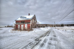 The old red house (morin.luce) Tags: rural old house countryside farm farmland québec canada fence winter country