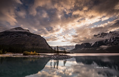 Minnewanka morn! (Explore 24/01/2018) (Canon Queen Rocks (1,966,000 + views)) Tags: mountains mothernature momentsbycelinecom landscape lake landscapes lakeminnewanka water reflections clouds morning dawn sky cloud alberta banff banffnationalpark nature trees canada