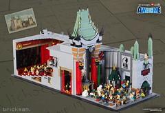 LEGO® brick Grauman's Chinese Theatre (TheBrickMan) Tags: lego brickman awesome theatre graumans chinese cutaway the movie
