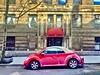 Upper West Side Little Red Bug (dannydalypix) Tags: nyc upperwestside uppermanhattan littleredbug volkswagenconvertible redvolkswagen redvolkswagenconvertible