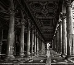 Basilica Papale di San Paolo fuori le Mura, Roma (markantonyhart) Tags: rome colonnades architecture leading lines