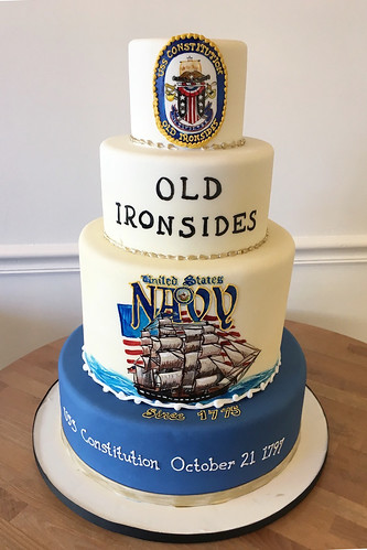 USS Constitution Ship Cake