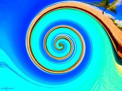 cielo, mare, paglia (archgionni) Tags: lines abstract geometries colori colors fantasia fantasy azzurro blu blue giallo yellow cielo sky mare sea paglia straw sabbia sand artwork crazygeniuses