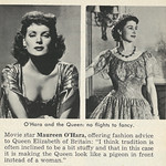 1953 Celebrity News Brief, Actress Maureen O'Hara Gives Fashion Advice to Britain's Queen Elizabeth II thumbnail