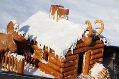 The gingerbread log cabin (IV) (dididumm) Tags: gingerbreadlogcabin christmas winter snow baking homemade selbstgemacht backen gebäck schnee weihnachten lebkuchenblockhaus lebkuchenblockhütte lebkuchen