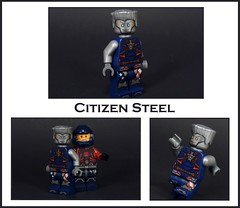 Citizen Steel (-Metarix-) Tags: lego super hero minifig citizen steel dc comics comic cw legends tomorrow atom custom purist