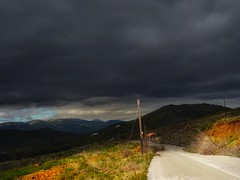 The light and the darkness in the same way. (panoskaralis) Tags: road roadtrip nature clouds sky bluesky skyclouds dark light sun sunlight mountainside mountainview green rainyday lesbos lesvos lesvosisland mytilene greece greek hellas hellenic outdoor landscape sony sonydschx60 aegean aegeansea