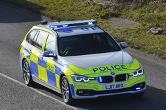 LJ17 APX (S11 AUN) Tags: northumbria police bmw 330d 3series xdrive estate touring anpr traffic supervision supervisor car roads policing unit rpu motor patrols 999 emergency vehicle lj17apx