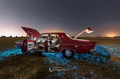 Night art (NOCTOGRAFIA - Gabriel Glez.) Tags: gabrielglez noctografia wwwnoctografiacom dodge barreiros dodgebarreiros nightphotography milkyway víaláctea night nightcar lightpaintingcar lightpainting stars