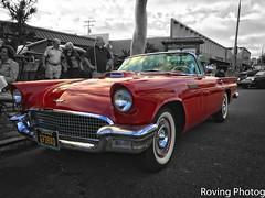 1957 Ford T-Bird (robtm2010) Tags: encinitas encinitascarshow california ca usa iphone iphone7 car carshow classic classiccar auto automobile cruisenight motorvehicle vehicle ford tbird thunderbird convertible 1957