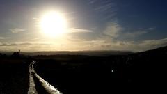 Down the road. (Jess Roberts7) Tags: walk hills aberystwyth sky sun blue green bright winter