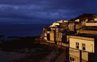 Malpica, evening light