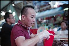 Chinese New Year market - Chinatown - Singapore (waex99) Tags: 160iso 2018 bw cny canon chinatown eos eos1n feb kodak singapore analog chinese film new portra year