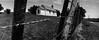 It's no secret (spannerino) Tags: church landscape blackandwhite fence newzealand arist200 horizon202 ilfordlc29 canon9000fii handprocessed scanned wideangle 35mm 35mmfilm