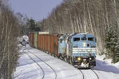 Job 2 at Bodfish (Thomas Coulombe) Tags: centralmainequebec cmq job2 emdsd402f gmdsd402f sd402f bodfish freighttrain train maine snow