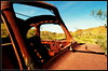 A framed landscape (bushman58929) Tags: rusty crusty lanscape bushman58929 australia outback olympus digital image abandoned rustic neglected bushland outdoors junkers rustbuckets
