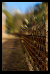 WottonHouseWall_sm (holgapix) Tags: surrey wottonhouse lensbaby wall blur colour