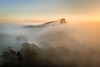 Out of the mist (mab090) Tags: countryside sunrise corfecastle mist outdoors engalnd trees dorset landscape
