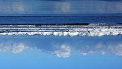 The blues (WISEBUYS21) Tags: blues blue sky water parallel lines cloud waves white dark modern art seeing world differently wisebuys21