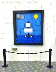 Tableau in a museum - ABS Builder Challenge - January 2018 (did b) Tags: art lego ship museum legomoc