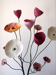 Handmade Paper Flowers by Alessandra Fabre Repetto (all things paper) Tags: papermache papersculpture greenweddings ecofriendly earthfriendly ecoweddingdesign paperflowers