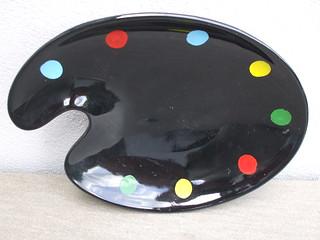 Mid Century Modern 1950's Ceramic Artists Palette Dish