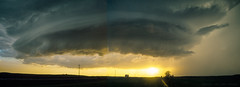 North Dakota Mothership (mesocyclone70) Tags: thunderstorm storm wallcloud supercell mothership stormchase greatplains sunset therebeastormabrewin northdakota plains prairie lightning thunder rotation