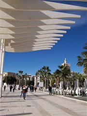 Malaga seafront - canopy (TeaMeister) Tags: europe train travel seat61 interrail cities architecture spain espana malaga andalusia costadelsol arts culture picasso islam createyourownstory concrete