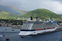 DSC_2190 (K.-H. Aberle) Tags: kreuzfahrtschiff regenbogen basseterre celebritysilhouette rainbow grün tourismus touristik d810 nikon natur stkitts karibik meer ozean ocean