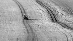 Land Rover and Lines (stevedewey2000) Tags: salisburyplain wiltshire spta sptacentre landrover defender offroader 4x4 blackandwhite monochrome bw dxofilmpack