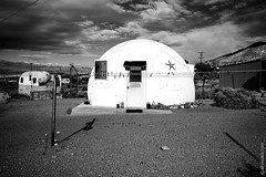 Circular House In Darwin, California (thedot_ru) Tags: circular house building architecture structure sky clouds skyporn travel adventure travelling travels wanderlust abandon village mountains monochrome blackandwhite bw canon5d 2014